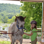 Верховая езда в летнем лагере для девочек в США-12