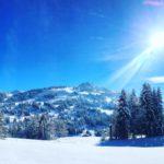 Горные лыжи в зимнем лагере в Швейцарии-1
